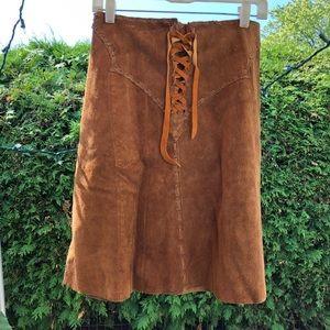 Handmade vintage Suede Skirt